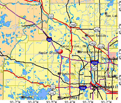 Maple Grove, MN map