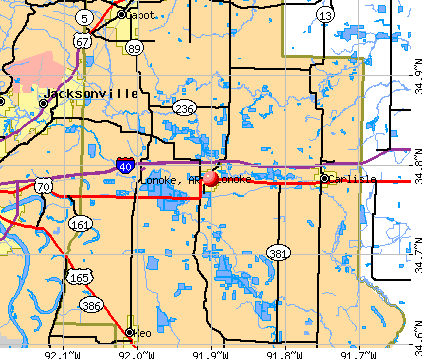 Lonoke, AR map