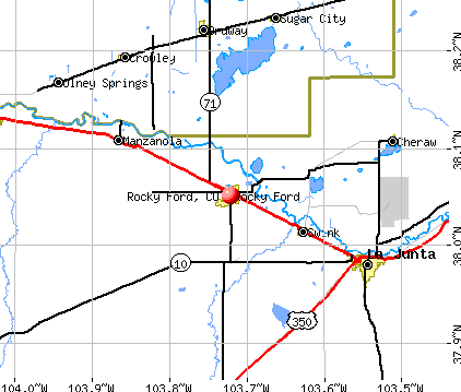 Rocky Ford, CO map