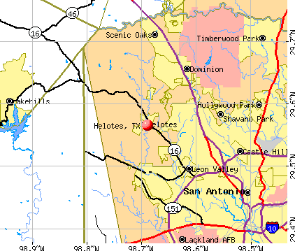 Helotes, TX map