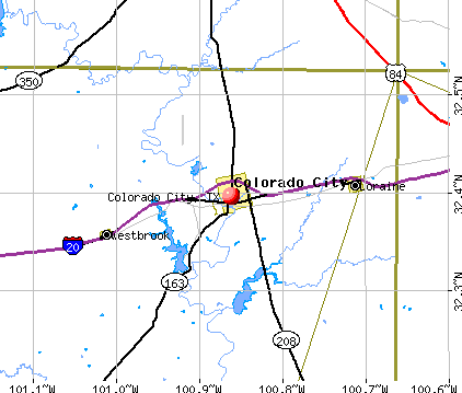 Colorado City, TX map