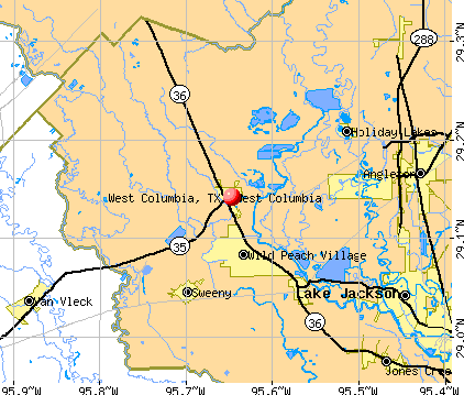West Columbia, TX map