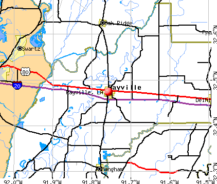 Rayville, LA map