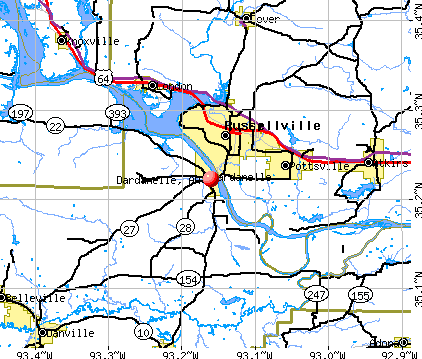 Dardanelle, AR map