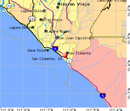 San Clemente, CA map
