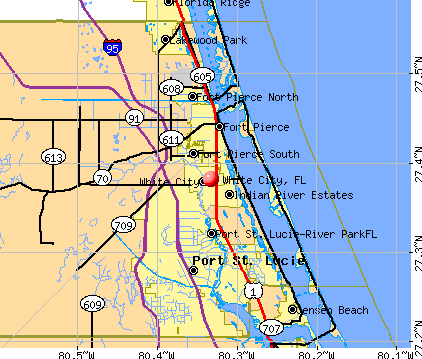 White City, FL map