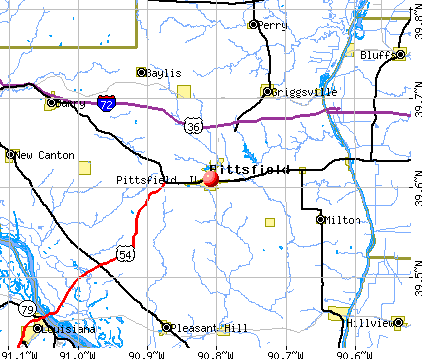 Pittsfield, IL map