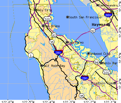 Highlands-Baywood Park, CA map