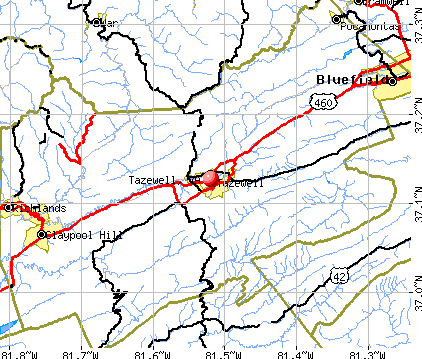 Tazewell, VA map