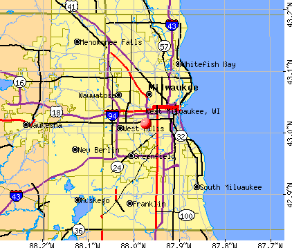 West Milwaukee, WI map