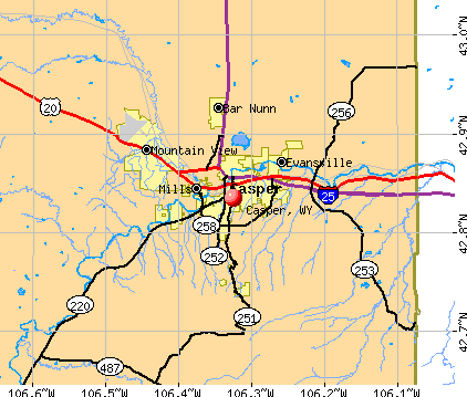 Casper, WY map