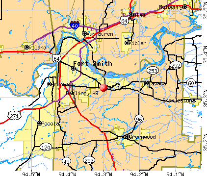 Barling, AR map