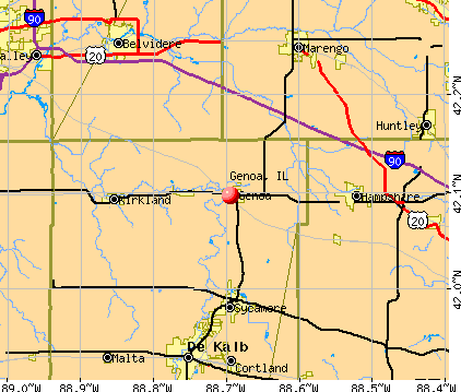 Genoa, IL map