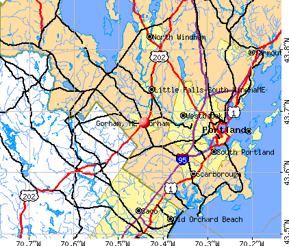 Gorham, ME map