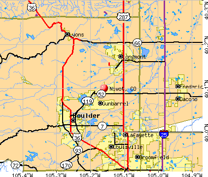 Niwot, CO map