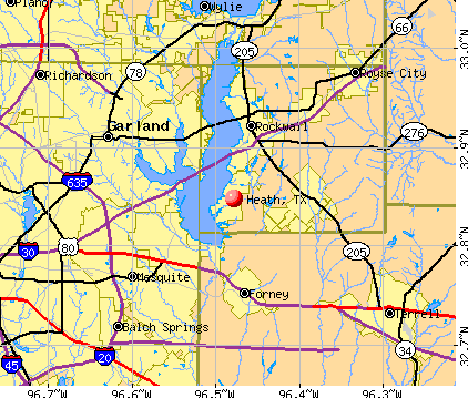 Heath, TX map