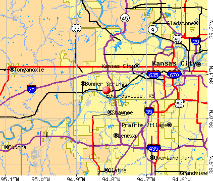 Edwardsville, KS map