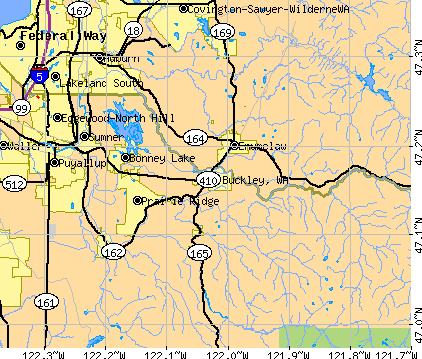 Buckley, WA map