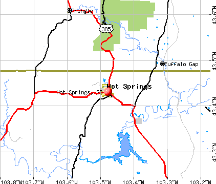 Hot Springs, SD map