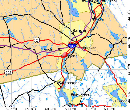 Hampden, ME map