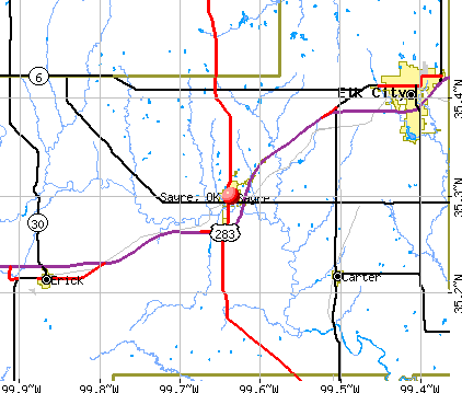 Sayre, OK map