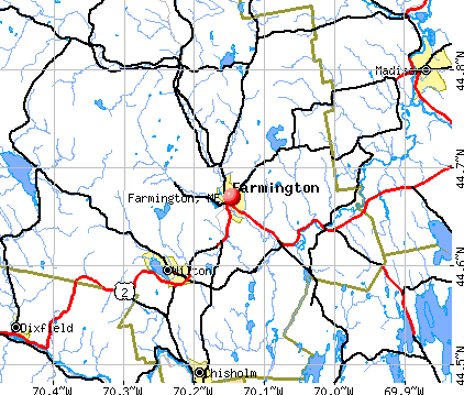 Farmington, ME map