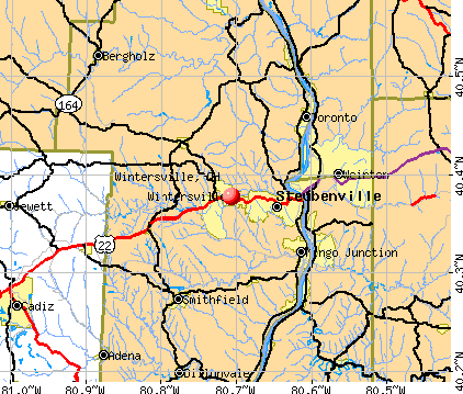 Wintersville, OH map