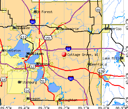 Cottage Grove, WI map