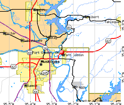 Fort Gibson, OK map