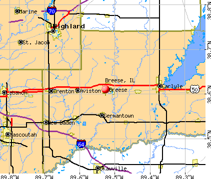 Breese, IL map