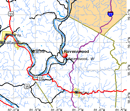 Ravenswood, WV map