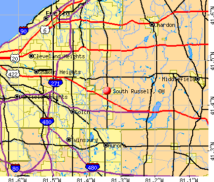 South Russell, OH map