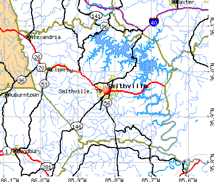 Smithville, TN map