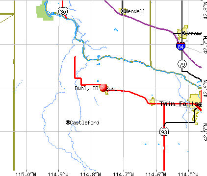 Buhl, ID map