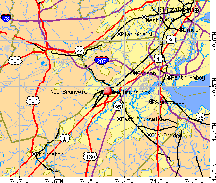 New Brunswick, NJ map