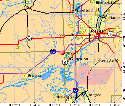 Minooka, IL map