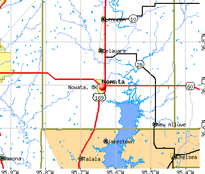 Nowata, OK map