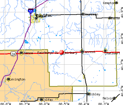 Fairbury, IL map