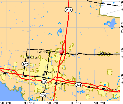 Edinburg, TX map
