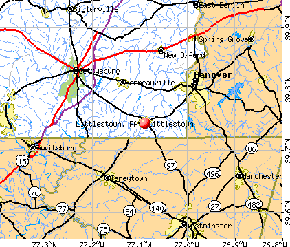 Littlestown, PA map
