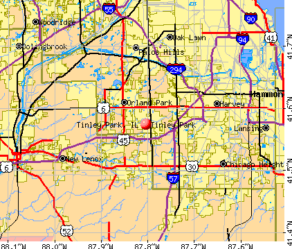 Tinley Park, IL map