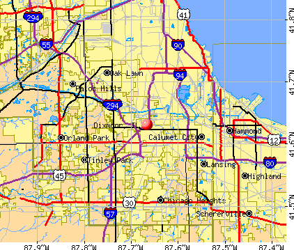 Dixmoor, IL map