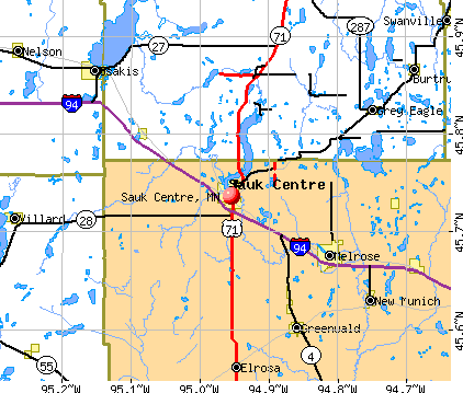 Sauk Centre, MN map