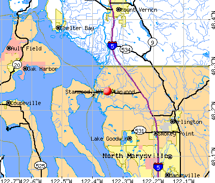 Stanwood, WA map