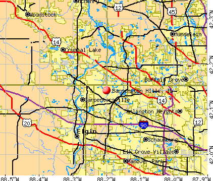 Barrington Hills, IL map