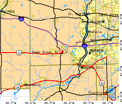 Sugar Grove, IL map