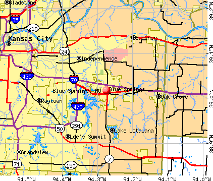 Blue Springs, MO map