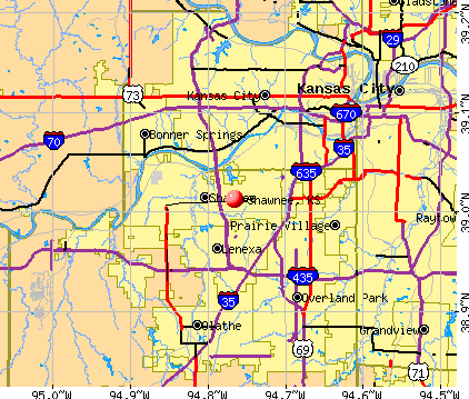 Shawnee, KS map