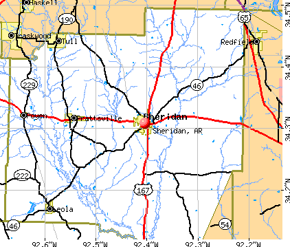 Sheridan, AR map