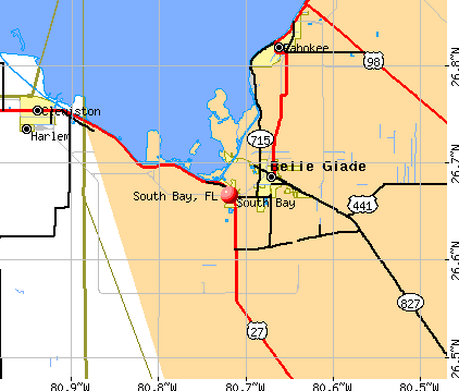 South Bay, FL map